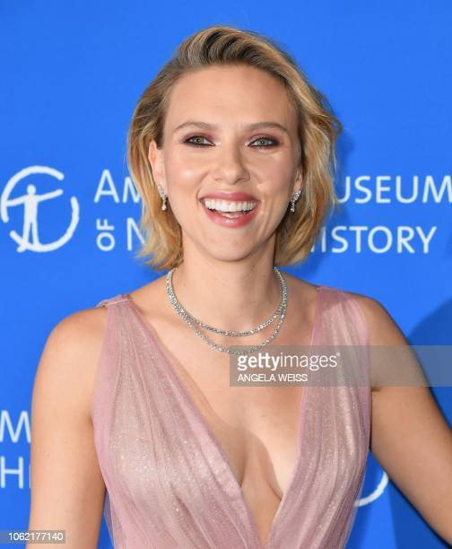Actress Scarlett Johansson attends the American Museum of Natural History's 2018 Museum Gala on November 15 2018 in New York City