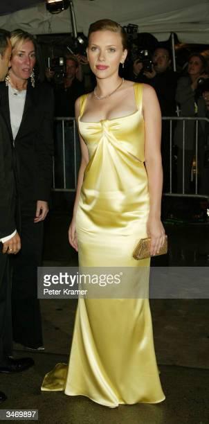 Actress Scarlett Johansson attends the Dangerous Liasons The Art of Seduction The Metropolitan Museums Costume Institute Benefit Gala April 26 2004...