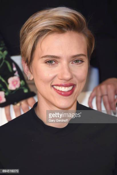 Actress Scarlett Johansson attends the 'Rough Night' photo call at the Crosby Street Hotel on June 10 2017 in New York City