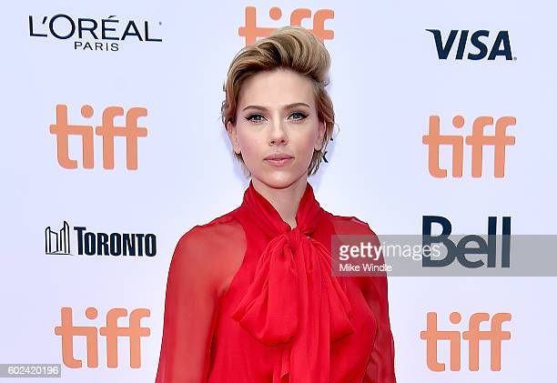 Actress Scarlett Johansson attends the Sing premiere during the 2016 Toronto International Film Festival at Princess of Wales Theatre on September 11...