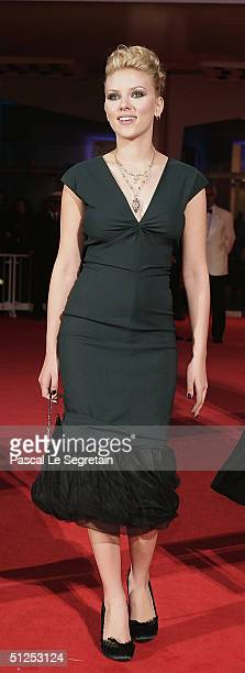 """Actress Scarlett Johansson attends """"The Terminal"""" Opening Night Premiere at the 61st Venice Film Festival on September 1, 2004 in Venice, Italy."""