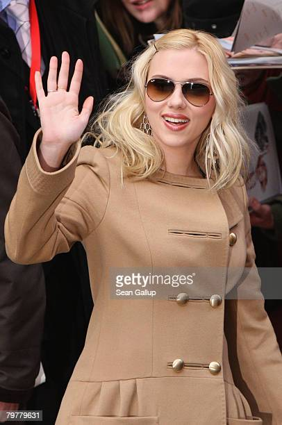 Actress Scarlett Johansson attends the 'The Other Boleyn Girl' Photocall as part of the 58th Berlinale Film Festival at the Grand Hyatt Hotel on...