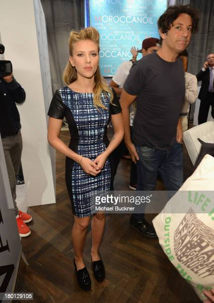 Actress Scarlett Johansson attends the Variety Studio presented by Moroccanoil at Holt Renfrew during the 2103 Toronto International Film Festival on...