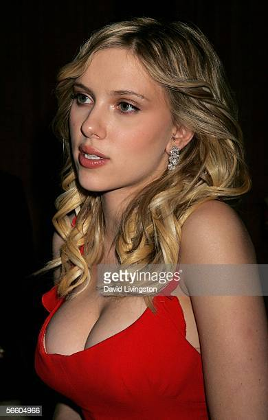 Actress Scarlett Johansson attends the Weinstein Co Golden Globe after party held at Trader Vic's on January 16 2006 in Beverly Hills California