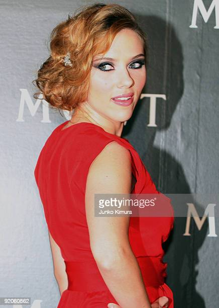 Actress Scarlett Johansson attends 'Tribute to Cinema' hosted by Moet Chandon at Roppongi Hills on October 20 2009 in Tokyo Japan