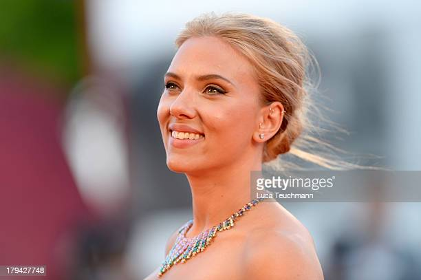 Actress Scarlett Johansson attends Under The Skin Premiere during the 70th Venice International Film Festival at Sala Grande on September 3 2013 in...