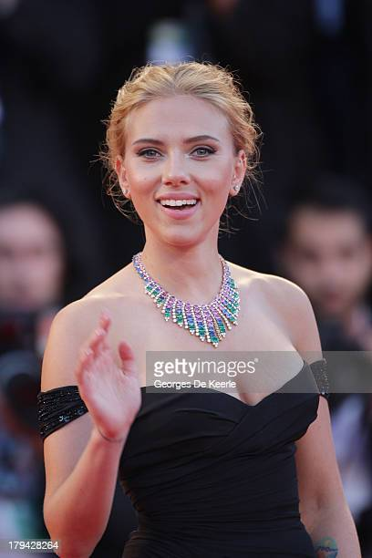Actress Scarlett Johansson attends 'Under The Skin' Premiere during the 70th Venice International Film Festival at Palazzo del Cinema on September 3...