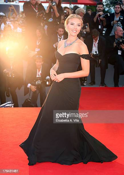 Actress Scarlett Johansson attends 'Under The Skin' Premiere during the 70th Venice International Film Festival at Sala Grande on September 3 2013 in...