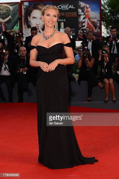 Actress Scarlett Johansson attends 'Under The Skin' Premiere during the 70th Venice International Film Festival at Palazzo del Cinema on September 3,...