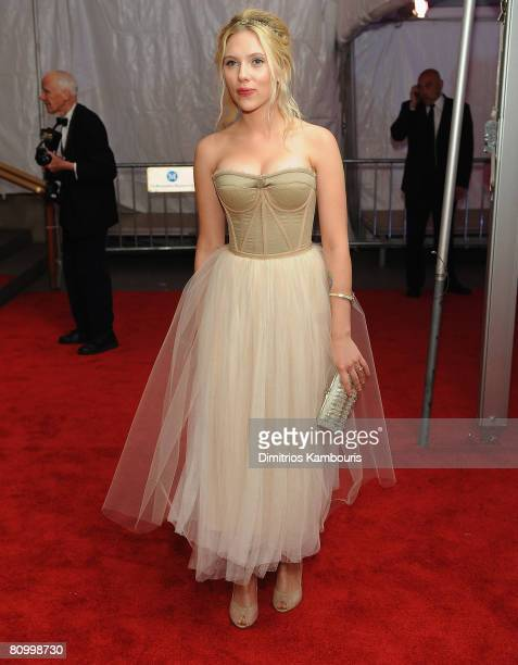 "Actress Scarlett Johansson departs the Metropolitan Museum of Art Costume Institute Gala ""Superheroes: Fashion And Fantasy"" at the Metropolitan..."