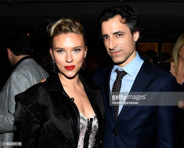 Actress Scarlett Johansson director/writer and producer Noah Baumbach attend the after party following the premiere of Netflix's Marriage Story on...