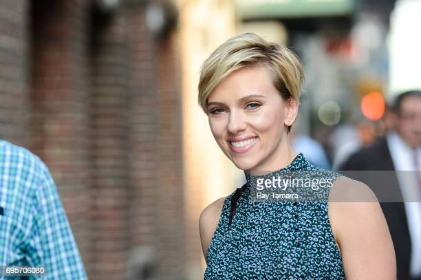 Actress Scarlett Johansson enters the The Late Show With Stephen Colbert taping at the Ed Sullivan Theater on June 13 2017 in New York City
