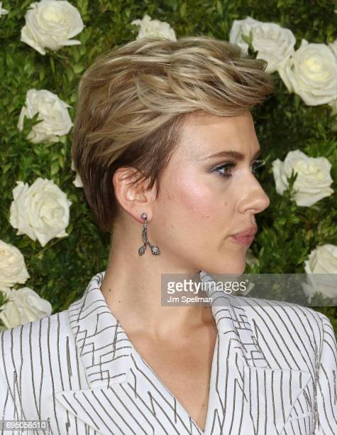 Actress Scarlett Johansson hair detail attends the 71st Annual Tony Awards at Radio City Music Hall on June 11 2017 in New York City