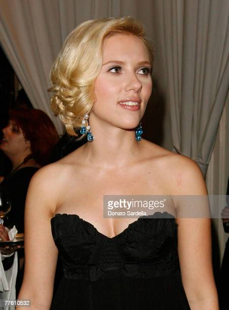 BEVERLY HILLS CA OCTOBER 15 Actress Scarlett Johansson inside ELLE Magazine's 14th Annual Women In Hollywood at the four seasons hotel on October 15...