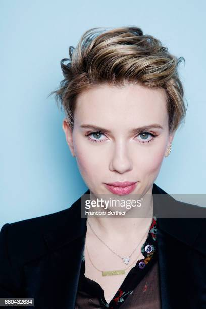 Actress Scarlett Johansson is photographed for Plugged Magazine on January 9 2017 in New York USA