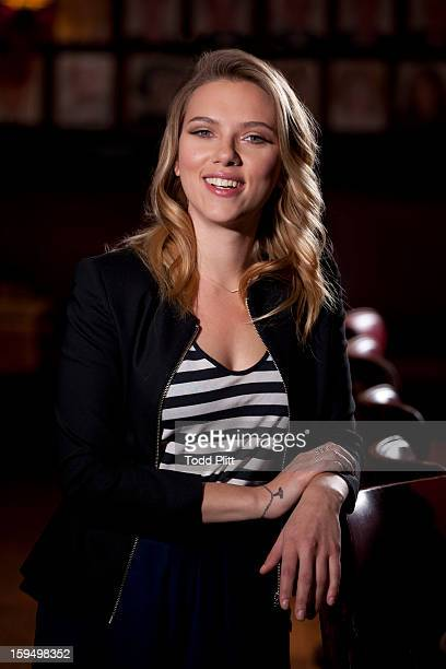 Actress Scarlett Johansson is photographed for USA Today on December 1 2012 in New York City PUBLISHED IMAGE