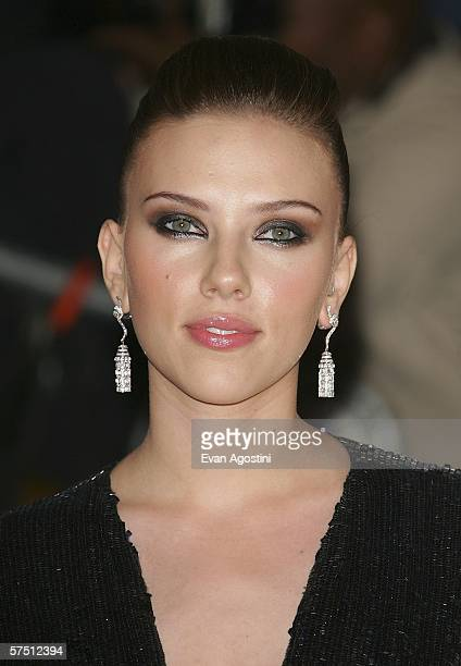 "Actress Scarlett Johansson leaves the Metropolitan Museum of Art Costume Institute Benefit Gala ""AngloMania: Tradition and Transgression in British..."
