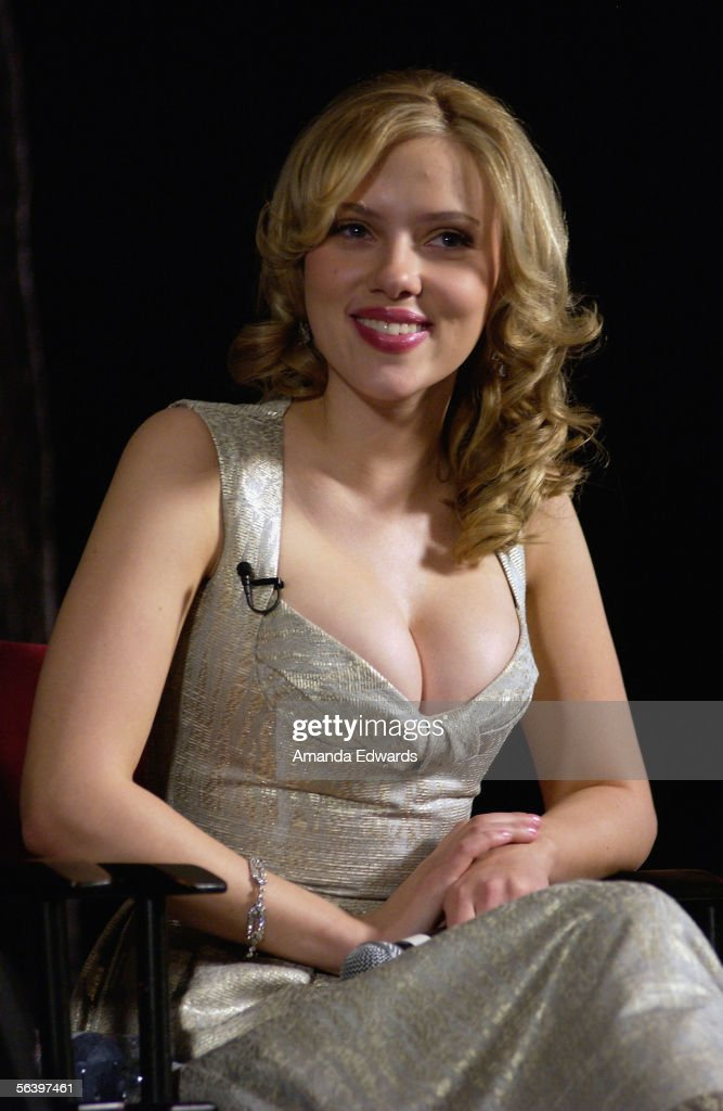 Actress Scarlett Johansson participates in a Q&A session at the Variety Screening Series of 'Match Point' at the Arclight Theaters on December 8, 2005 in Hollywood, California.