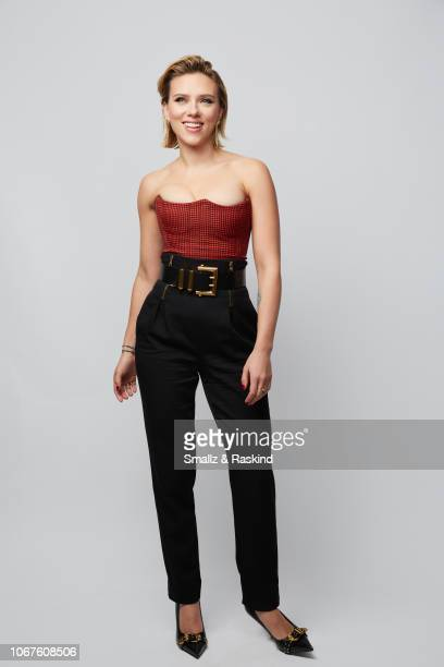 Actress Scarlett Johansson poses for a portrait during the 2018 People's Choice Awards at The Barker Hanger on November 11 2018 in Santa Monica...