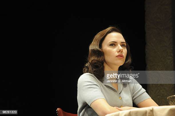 Actress Scarlett Johansson rehearsing scenes for Arthur Miller's play A View From The Bridge on Broadway in New York City January 19 2010 Johannsson...
