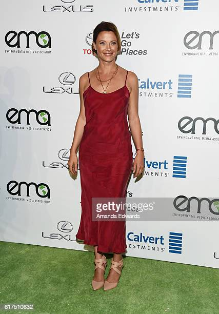 Actress Scottie Thompson arrives at the 26th Annual EMA Awards at Warner Bros Studios on October 22 2016 in Burbank California