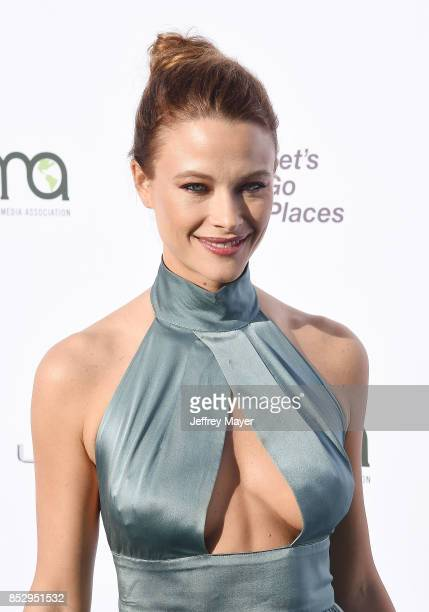 Actress Scottie Thompson arrives at the 27th Annual EMA Awards at Barker Hangar on September 23 2017 in Santa Monica California