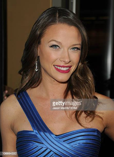 Actress Scottie Thompson arrives at the premiere of Rogue Pictures' Skyline on November 9 2010 in Los Angeles California