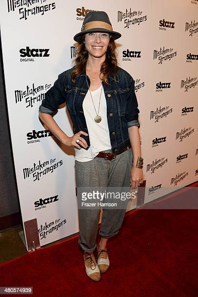 Actress Scottie Thompson attends the Los Angeles screening of Mistaken For Strangers at The Shrine Auditorium on March 25 2014 in Los Angeles...