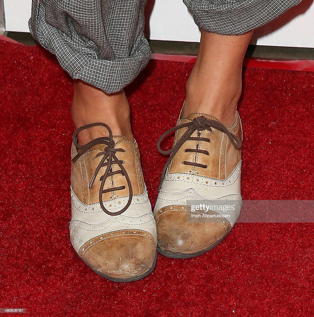 Actress Scottie Thompson (shoe detail) attends the Los Angeles screening of 'Mistaken For Strangers' at The Shrine Auditorium on March 25, 2014 in Los Angeles, California.