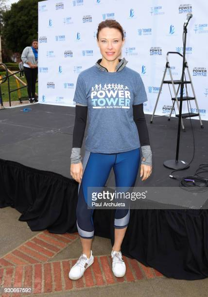 Actress Scottie Thompson attends the 'Power Of Tower' run/walk at UCLA on March 11 2018 in Los Angeles California