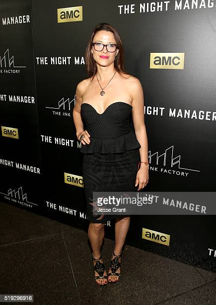 Actress Scottie Thompson attends the premiere of AMC's The Night Manager at DGA Theater on April 5 2016 in Los Angeles California