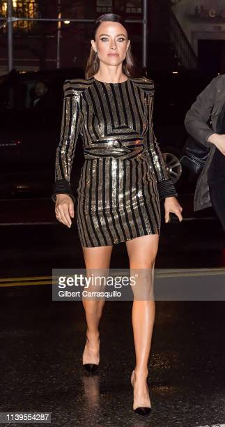 Actress Scottie Thompson is seen arriving to the 'Crown Vic' screening at the 2019 Tribeca Film Festival at SVA Theater on April 26 2019 in New York...