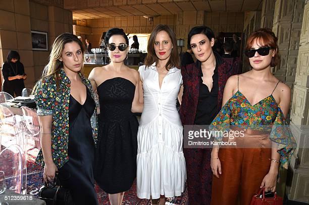 Actress Scout Willis, dancer/model Dita Von Teese, filmmaker/writer Liz Goldwyn, actress Rumer Willis and actress Tallulah Willis attend M.A.C...
