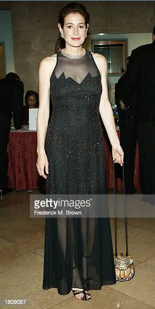 Actress Sean Young attends the celebrity gala honoring Secretary of Veterans' Affairs Anthony Principi at the Beverly Hilton Hotel on February 21,...