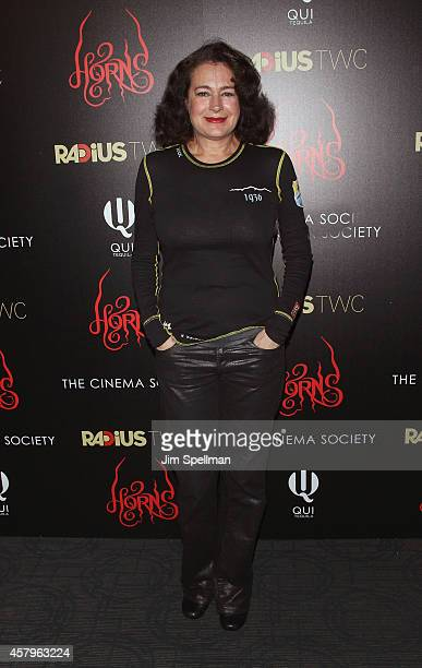 Actress Sean Young attends the RADiUS TWC and The Cinema Society New York Premiere of 'Horns' at Landmark's Sunshine Cinema on October 27 2014 in New...