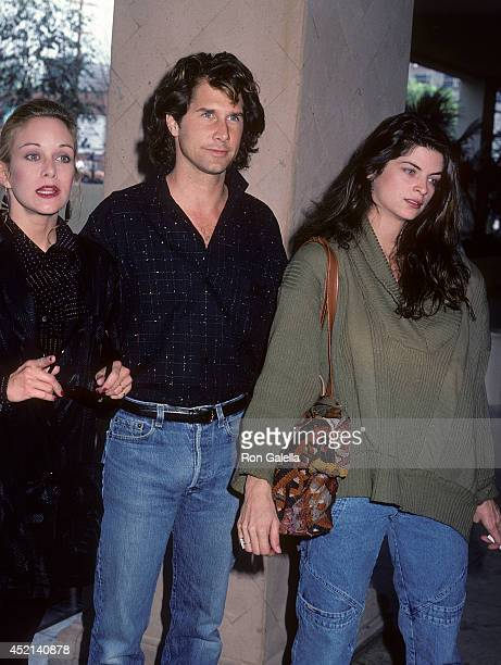 Actress Season Hubley actor Parker Stevenson and actress Kirstey Alley attend the Press Conference for the 'Hands Across America' Campaign on January...