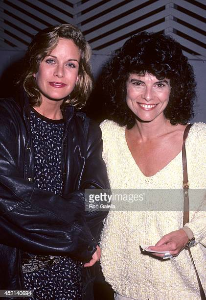Actress Season Hubley and actress Adrienne Barbeau on September 27 1985 dine at Spago in West Hollywood California