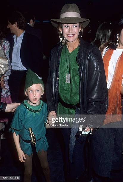 Actress Season Hubley and son Boston Russell attend the Second Annual Beverly Hills St Patrick's Day Parade Celebrity Breakfast on March 16 1986 at...