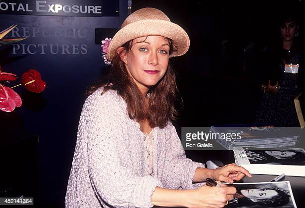 Actress Season Hubley attends the 10th Annual Video Software Dealers Association Convention and Expo on July 14 1991 at the Las Vegas Hilton...