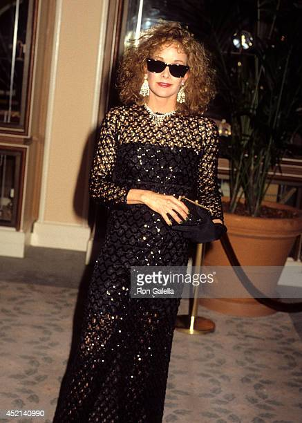 Actress Season Hubley attends the 43rd Annual Golden Globe Awards on January 24 1986 at the Beverly Hilton Hotel in Beverly Hills California