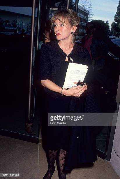 Actress Season Hubley attends the Fund for Animals' Fourth Annual Genesis Awards on February 11 1990 at the Beverly Hilton Hotel in Beverly Hills...
