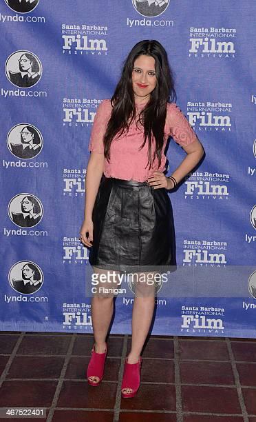 Actress Seedne Bujaidat attends the Cinema Vanguard Award at the Arlington Theatre on February 6 2014 in Santa Barbara California