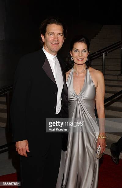Actress Sela Ward and husband actor Howard Eliott Sherman arrive to the Los Angeles Philharmonic Gala Benefit Beethoven A Journey into Genius to open...