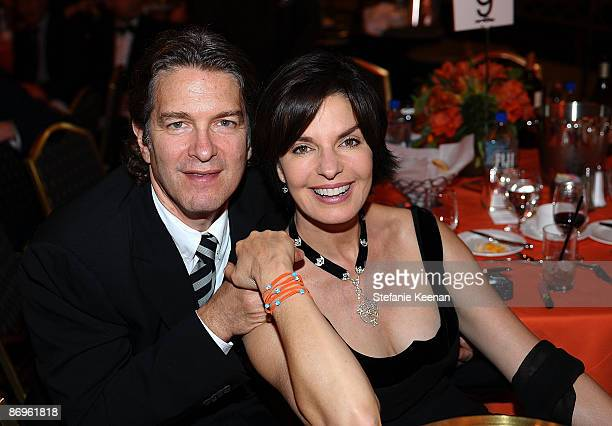 Actress Sela Ward and husband Howard Sherman attend the 16th Annual Race to Erase MS event cochaired by Nancy Davis and Tommy Hilfiger at Hyatt...