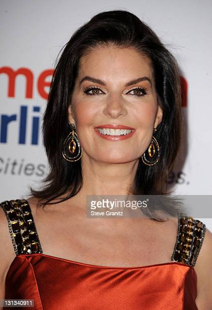 Actress Sela Ward arrives at the 18th Annual Race to Erase MS event cochaired by Nancy Davis and Tommy Hilfiger at the Hyatt Regency Century Plaza on...