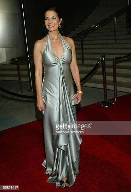 Actress Sela Ward arrives at the opening night gala of the Los Angeles Philharmonic at the Walt Disney Concert Hall September 29 2005 in Los Angeles...