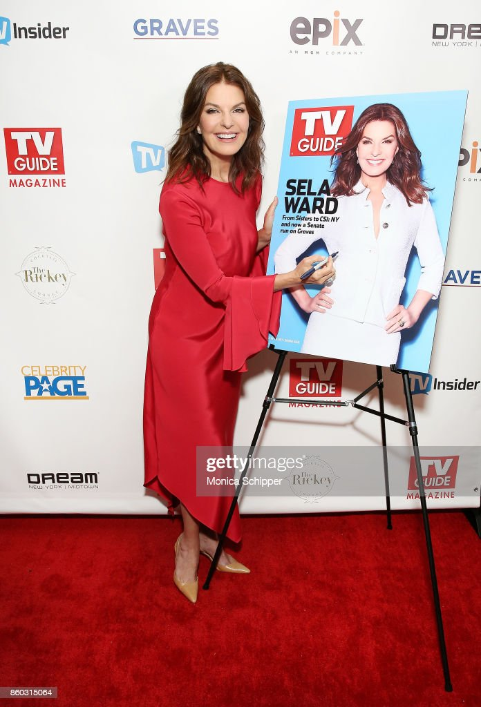 """TV Guide Magazine Celebrates Cover Star Sela Ward And Her Show """"Graves"""" : News Photo"""