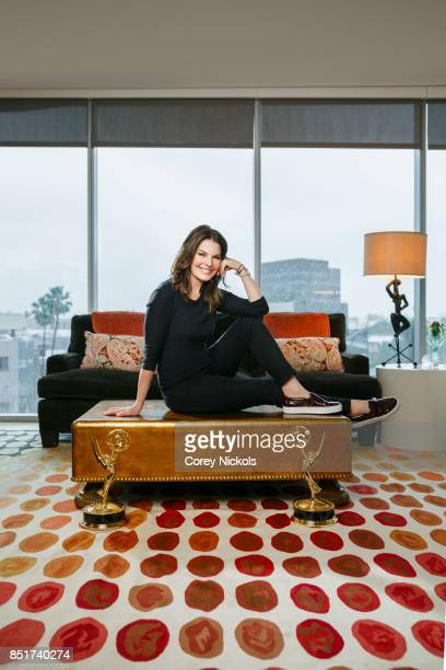 Actress Sela Ward is photographed for Emmy Magazine on February 17 2017 in Los Angeles California