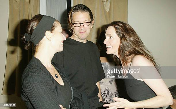 Actress Sela Ward with Howard Sherman and Actress Sheila Kelley at the opening party for Sheila Kelley's Factor Studio at The Factor Studio on June...