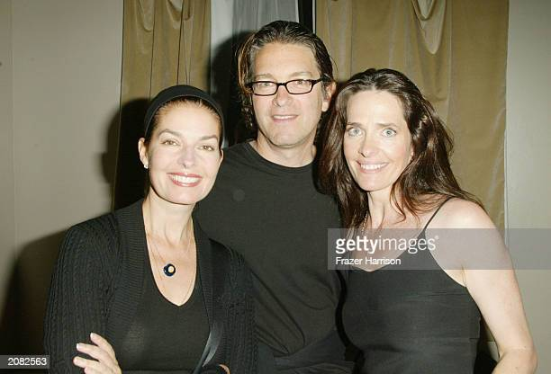 Actress Sela Ward with Howard Sherman and Actress Sheila Kelley at the opening party for Sheila Kelley's Factor Studio at The Factor Studio in Los...